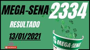 🍀 Mega sena 2334. Resultado da Mega Sena de hoje. Mega Sena ao vivo -  YouTube