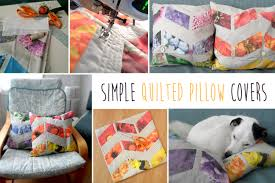 Quilted Pillow Covers - Simple DIY Tutorial | Inspiring How ... & Quilted Pillow Covers ... Adamdwight.com