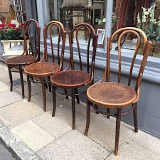 set of 4 vintage bentwood chairs