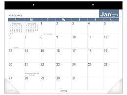 easy calendars at a glance easy to read monthly desk pad calendars
