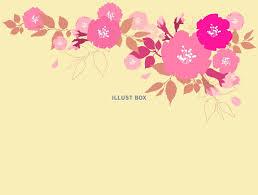 無料イラスト 桜レトロ調おしゃれフレーム枠背景花枠シンプル壁紙さくら