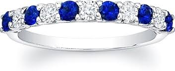 sapphire and diamond wedding bands. sapphire and diamond wedding band. (0 reviews) write a review. view photos bands 4