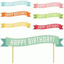 Birthday Banner Printable Silhouette Design Store View Design 78535 Printable
