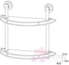<b>FBS Standard</b> STA 081 <b>Полка стеклянная</b> 2-х ярусная — купить по ...