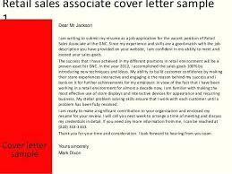 Sales Associate Cover Letter Sales Associate Cover Letter Sales