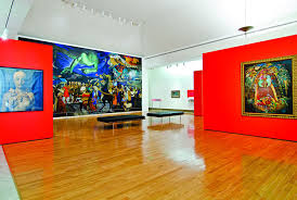 an exhibit at the museum of art of puerto rico which features artwork from the