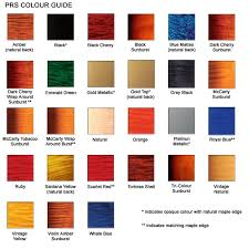 Prs Color Excuse Me Colour Chart Uk Edition In 2019