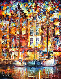 the three friends palette knife landscape oil painting on canvas by afremovartstudio 149 00