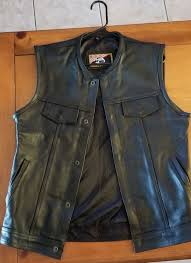 concealed carry leather vest size l