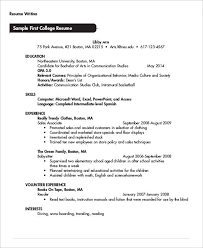 Word College College Student Resume Template Microsoft Word College Student