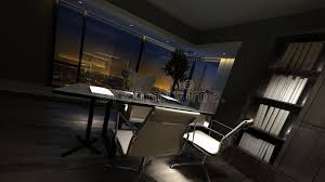 luxury home lighting. Download Luxury Home Office Interior At Night Stock Illustration - Of Luxury, Lighting: Lighting
