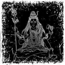 <b>Vintage</b> Poster With Sitting Indian <b>God</b> Shiva On The <b>Grunge</b> ...