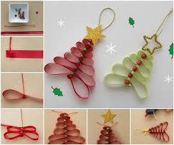 creative ideas diy adorable ribbon and beads christmas tree