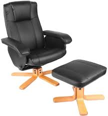 luxury leather recliner chairs. luxury premier recliner swivel chair with footstool in black faux leather chairs r