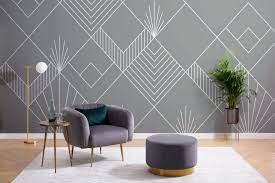 Lines & Squares Wallpaper Mural ...