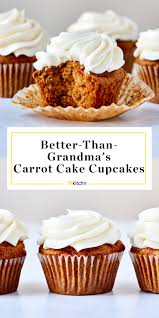 Easy Carrot Cake Cupcakes With Cream Cheese Frosting Kitchn