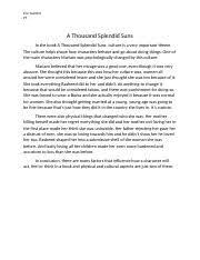 mwds splendid suns major works data sheet guntert ap literature 1 pages a thousand splendid suns essay