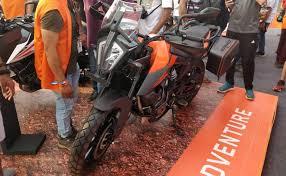 ktm 390 adventure showcased at india