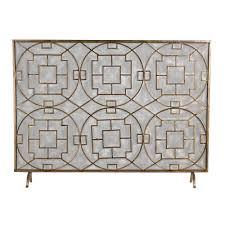 titan lighting geometric single panel fireplace screen