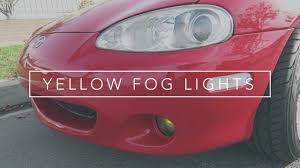 1999 Mazda Miata Fog Light Replacement Yellow Fog Light Install 2004 Miata Nb