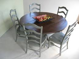 custom round farm table with pedestal base and matching chairs by ecustomfinishes reclaimed wood furniture custommade com