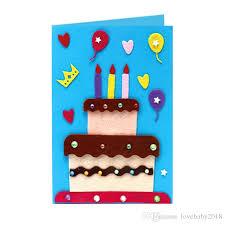Online Birthday Cards For Kids New Kids 3d Handmade Greeting Cards Children Diy Christmas