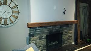 gurpreet s mantel looks ly realistic on his real stone fireplace