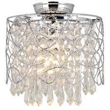 oriel lighting astoria diy flush mount in chrome crystal