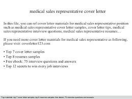 Medical Device Cover Letter Medical Sales Representative Cover ...