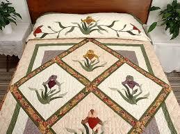 Iris Applique Quilt -- splendid specially made Amish Quilts from ... & Iris Delight Applique Quilt Photo 1 ... Adamdwight.com