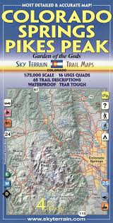 colorado springs  pikes peak trail map th edition kent schulte