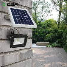 Install Flood Lights Outdoor Us 36 69 50 Off Outdoor Solar Powered Led Flood Light 10w With 5m Wire 2200ma Battery For Garden Solar Floodlights Spotlights Lamps Waterproof In