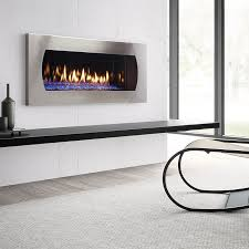 heat glo mezzo 48 gas fireplace with quattro front