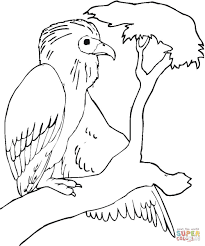Small Picture Buzzard is Sitting on the Tree Branch coloring page Free