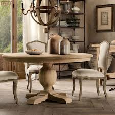 get ations american country dining table vintage wood dining table large round table roman pillars dining table french
