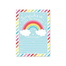 Stars Invitation Template 25 Rainbow Stars Color Cloud Colorful Sparkle Party Invitations Striped Colored Pastel Girls Invite Ideas Kids Adults Birthday Supplies Baby Or