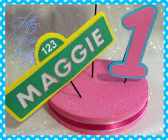 Abby Cadabby Party Decorations Abby Cadabby Centerpiece Personalized Name And Age Sesame Street