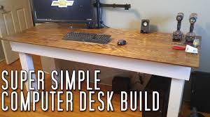 Make Your Own Computer Desk Super Simple Computer Desk Build Youtube