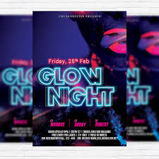 glow flyer glow night premium flyer template facebook cover exclsiveflyer
