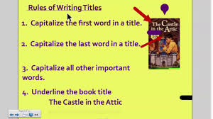 Book Titles Written Correctly How To Write Book Titles Youtube