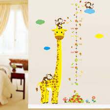 giraffe furniture. kids height chart wall decals animal cartoon sticker monkey giraffe home decor for room nursery furniture