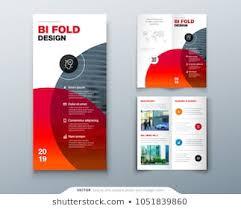 2 Folded Brochure Template 2 Fold Brochure Template Stock Illustrations Images