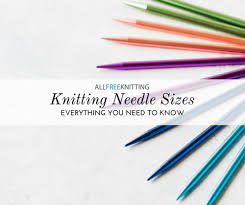 Conversion Chart For Everything Knitting Needle Sizes 101 Conversion Chart