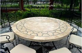 60 inch round outdoor dining table large round outdoor table round mosaic outdoor dining table 60