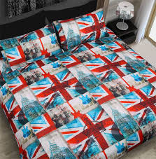 uk flag quilt cover set