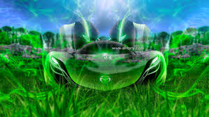 mazda furai crystal nature green smoke car
