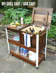 a diy tutorial to build an outdoor bar cart complete with free plans you can serve and cold drinks outdoors with this portable bar cart