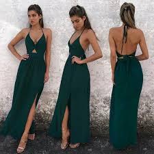 <b>Floral</b> Long Maxi Dress Party Beach Halter Backless Dresses ...