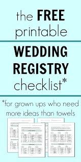 Wedding Gift Checklist Gallery Decoration Ideas Baby Registry ...