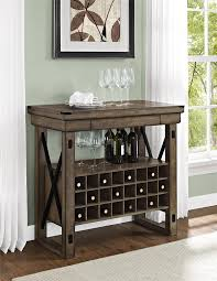 Amazon Altra Furniture Wildwood Wood Veneer Bar Cabinet